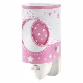 Lampa de veghe camera copii Moon Light, roz - Evambient DB - Articole pentru copii