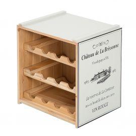 Set 2 rafturi de vin design Shabby Chic, Belle Affaire gri deschis - Evambient VC - Biblioteci-Rafturi