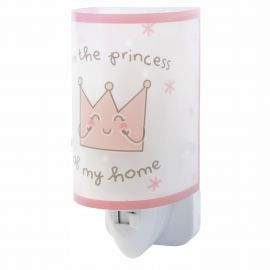 Lampa de veghe camera copii Prince & Princess roz