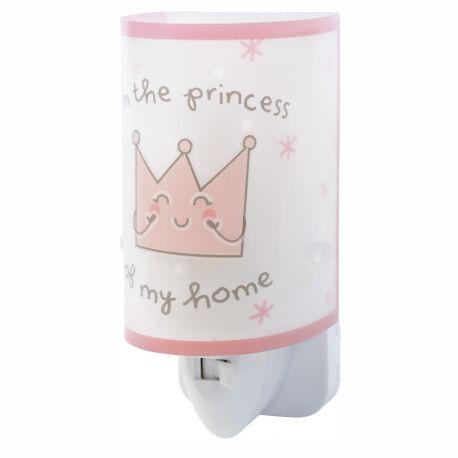 Lampa de veghe camera copii Prince & Princess roz - Evambient DB - Articole pentru copii