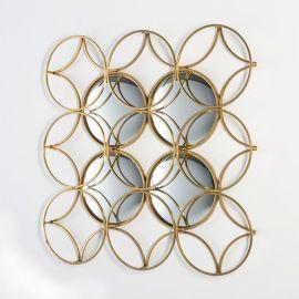 Decoratiune perete din metal si oglinda Dorado 90x90cm - Evambient TN - Decoratiuni perete