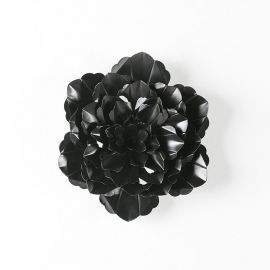 Decoratiune perete din metal negru Flower 39cm