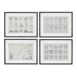 Set de 4 tablouri Détailles Colonnes