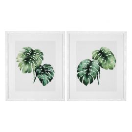 Set de 2 tablouri Tropical plants