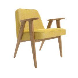 Fotoliu copii LOFT galben/ stejar inchis - 366 Concept - Articole pentru copii