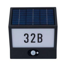 Aplica LED solara cu numar casa cu senzor zi / noapte IP54 ANDREA