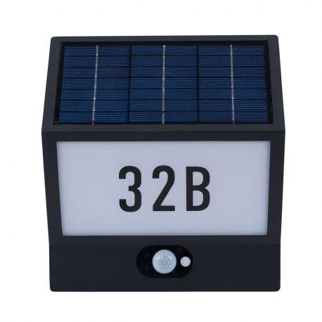 Aplica LED cu numar casa cu senzor zii / noapte IP54 ANDREA