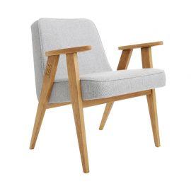 Fotoliu copii Tweed alb/ stejar - 366 Concept - Articole pentru copii