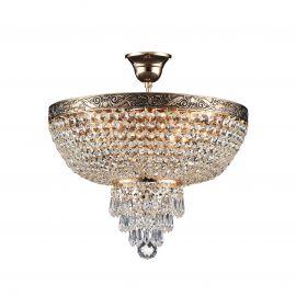 Lustra cristal design elegant Palace 40cm auriu - Evambient MY - Lustre aplicate