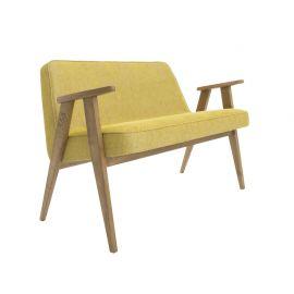 Canapea fixa 366 Sofa, LOFT galben/ stejar