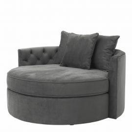 Pat de zi design lux Carlita, granite grey