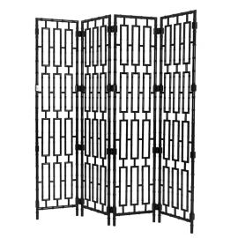 Paravan decorativ design LUX, Bamboo negru