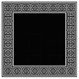 Covor APOLLO Negru/Alb 300x300