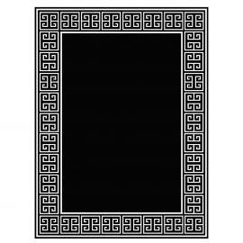 Covor APOLLO Negru/Alb 300x400