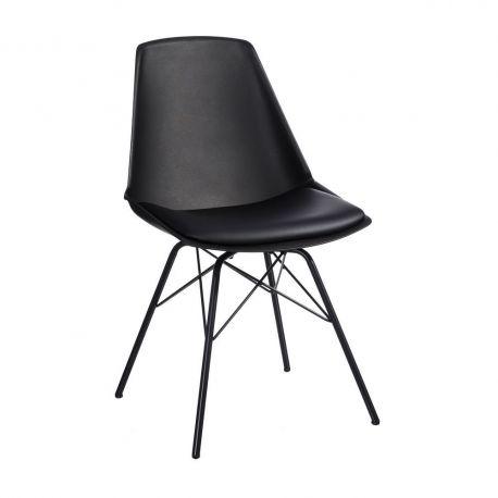 Set de 2 scaune design modern Karina negru