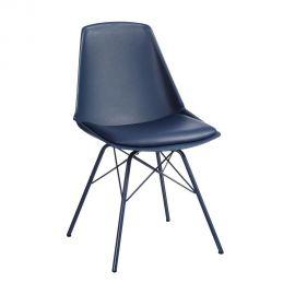 Set de 2 scaune design modern Karina albastu
