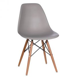 Set de 2 scaune design vintage Nordica gri inchis - Evambient SX - Seturi scaune, HoReCa