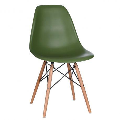 Seturi scaune, HoReCa - Set de 2 scaune design vintage Nordica verde