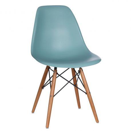 Seturi scaune, HoReCa - Set de 2 scaune design vintage Nordica turquosie