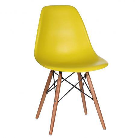 Set de 2 scaune design vintage Nordica galben