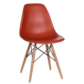 Set de 2 scaune design vintage Nordica orange