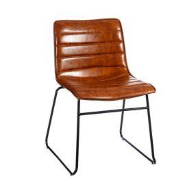Set de 2 scaune stil clasic Phanuel maro natur