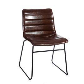 Set de 2 scaune stil clasic Phanuel maro inchis