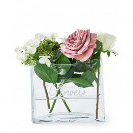 Vas decorativ din sticla Flowers Bag Vase