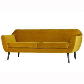Canapea fixa design modern Rocco ocru