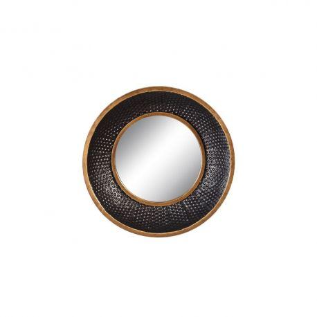 Oglinda de perete metal Negru- auriu, 41cm - Evambient SX - Oglinzi