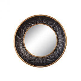 Oglinda de perete metal Negru- auriu, 55cm