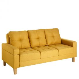Canapea extensibila 3 locuri Alishia, galben