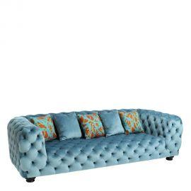 Canapea 3 locuri capitonata, Berna albastru