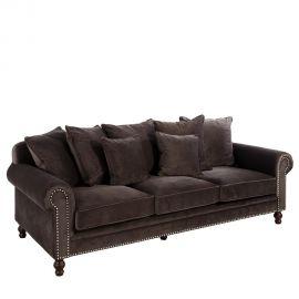 Canapea 3 locuri design clasic elegant Chester negru