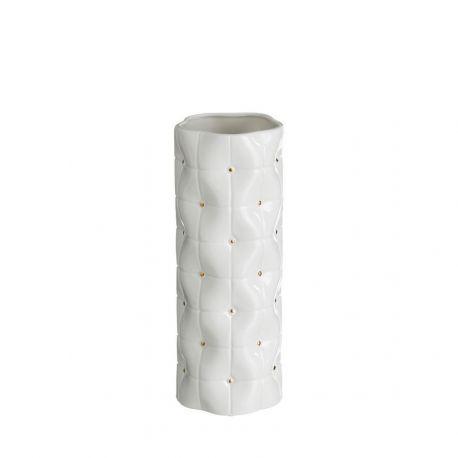 Vaza din ceramica Abbey 33cm, alb/ auriu - Evambient DZ - Vaze