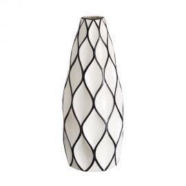 Vaza din ceramica Romb 48cm alb/ negru