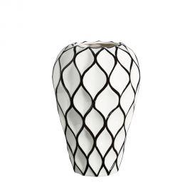 Vaza din ceramica Romb 34cm alb/ negru