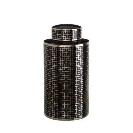 Vas din ceramica Geometric negru 47cm - Evambient DZ - Vaze