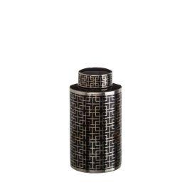 Vas din ceramica Geometric negru 32cm - Evambient DZ - Vaze