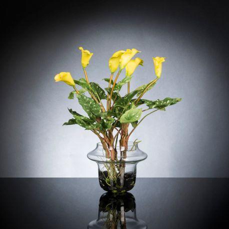 Aranjament floral ALFEO CALLA TRIS galben - Evambient VG - Aranjamente florale LUX