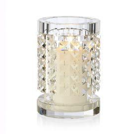 Suport lumanare din sticla design LUX, NEFERTARI ROUND 22cm - Evambient VG - Parfumuri de camera, Idei cadouri, Obiecte decor...