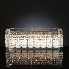Suport lumanare din sticla design LUX, NEFERTARI RECTANGULAR 60x15cm