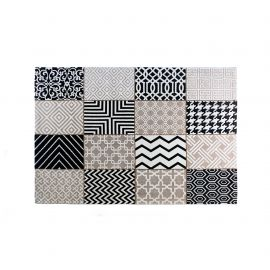 Covor din bumbac SPIROS 160x230cm, patchwork gri inchis