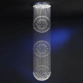 Lustre casa scarii - Lustra LED casa scarii design super-modern Estratos Ø60cm / H 2,78metri