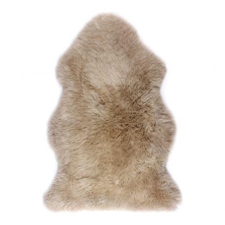 Covor din piele de oaie LW Premium 105cm DARK LINEN - Evambient ASK - Blanuri naturale