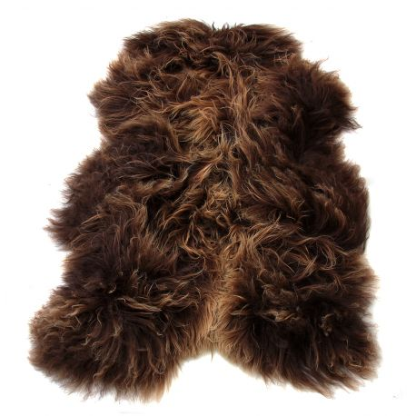 Covor din piele de oaie LW ICELAND 120cm Icelandic Rusty Brown - Evambient ASK - Blanuri naturale