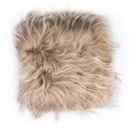 Perna cu piele de oaie LW Iceland 35x35cm Icelandic Taupe - Evambient ASK - Perne si fete de perne