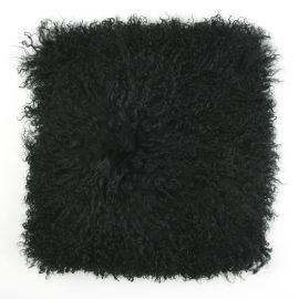 Perna cu piele de oaie LW Tibetan 50x50cm Velvet Black - Evambient ASK - Perne si fete de perne