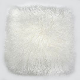 Perna cu piele de oaie LW Tibetan 50x50cm Velvet Ivory