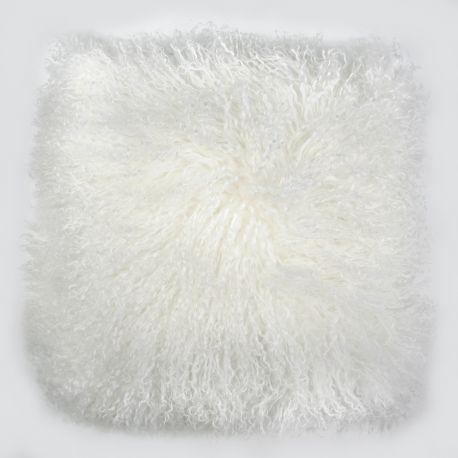 Perna cu piele de oaie LW Tibetan 50x50cm Velvet Ivory - Evambient ASK - Perne si fete de perne